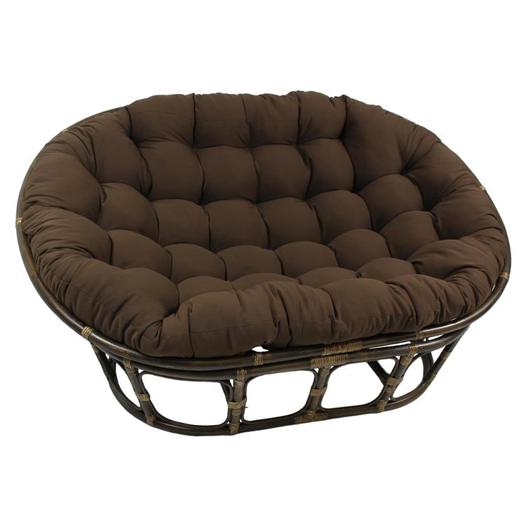 65-inch by 48-inch Solid Twill Double Papasan Cushion