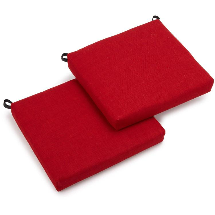 20-inch by 19-inch Spun Polyester Chair Cushion (Set of Two)
