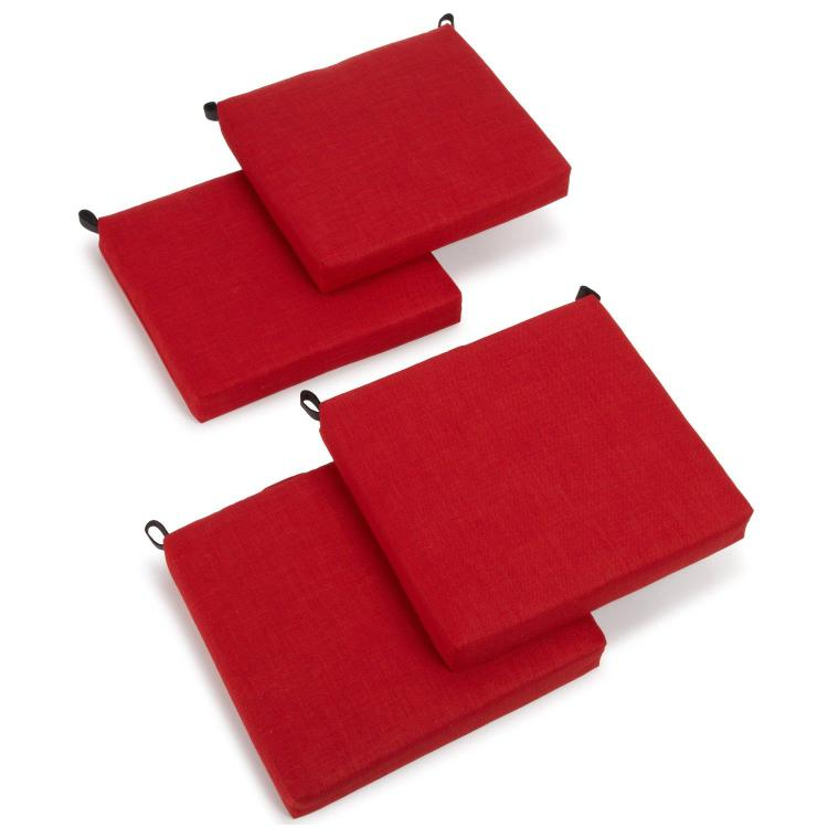 20-inch by 19-inch Spun Polyester Chair Cushion (Set of Four)
