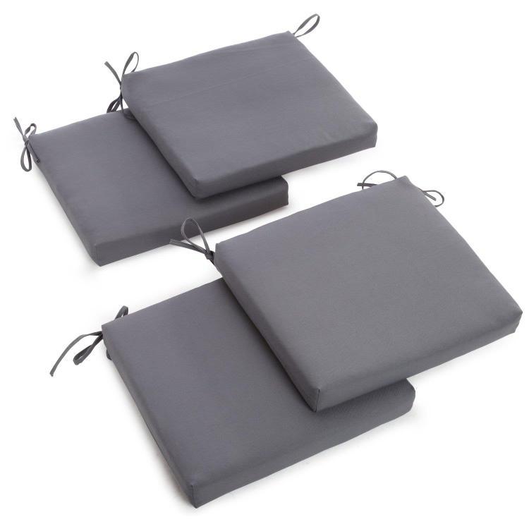 20-inch by 19-inch Twill Chair Cushion (Set of Four)