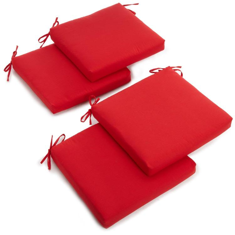 20-inch by 19-inch Twill Chair Cushion (Set of Four) [Item # 93454-4CH-TW-RD]