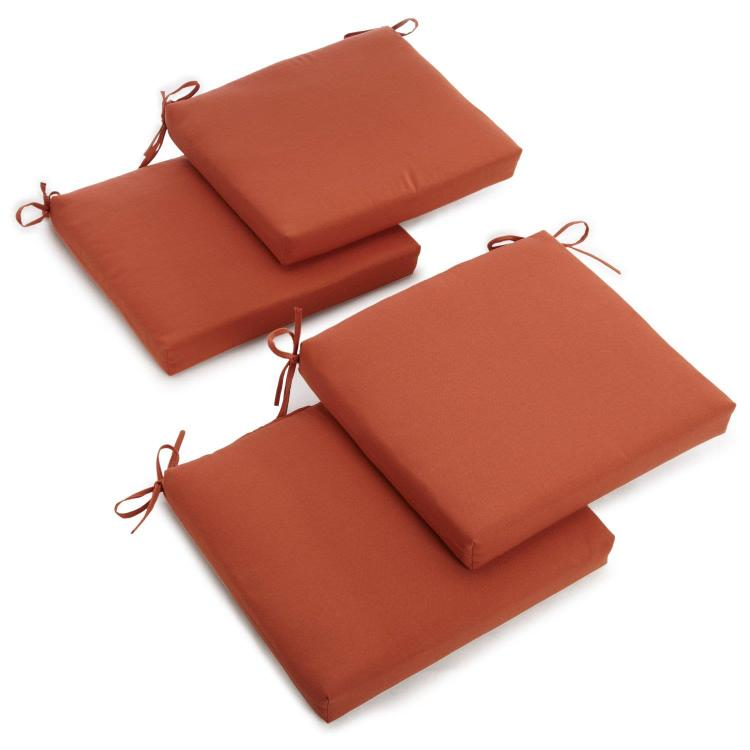 20-inch by 19-inch Twill Chair Cushion (Set of Four)