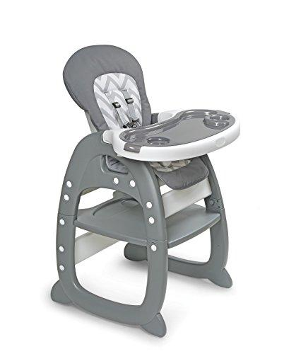 Envee II Baby High Chair with Playtable Conversion - Gray/Chevron