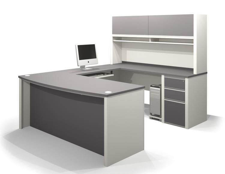 Bestar Connexion U-Shaped Workstation Kit Including Pedestal