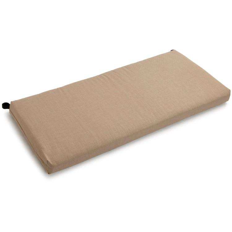 40-inch by 19-inch Outdoor Spun Polyester Loveseat Cushion