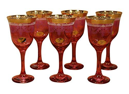 Red Goblets Set of 6