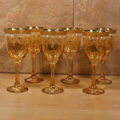 Amber Goblets Set of 6