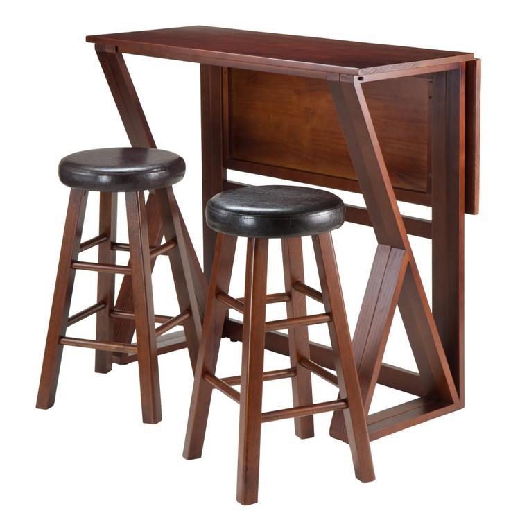 Winsome Wood Harrington 3-Pc Drop Leaf High Table, 2 - 24