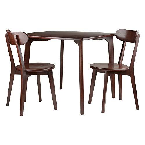 Winsome Wood Pauline 3-PC Set Dining Table with 2 Chairs
