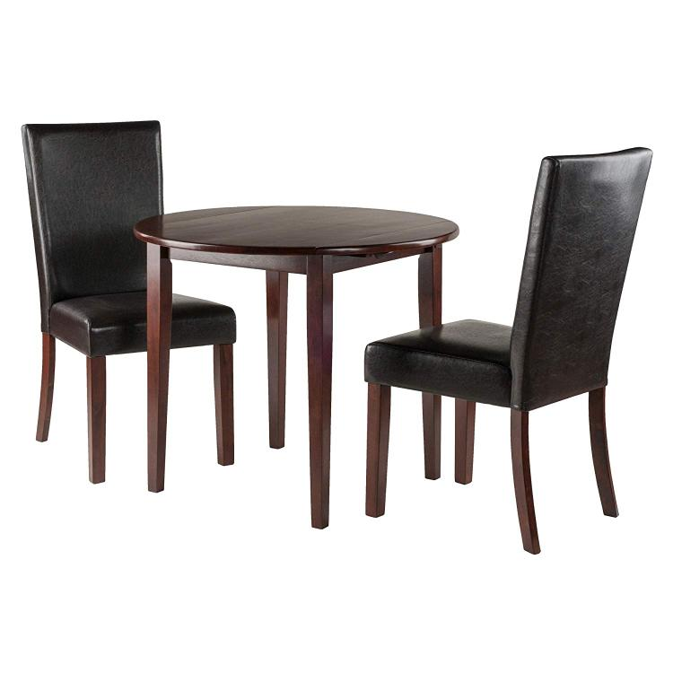 Winsome Wood Clayton 3-PC Set Drop Leaf Table with 2 Chairs