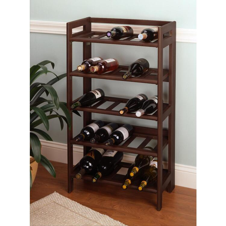 Wine Rack, 25-Bottle, Foldable and Stackable - Winsome - 94521