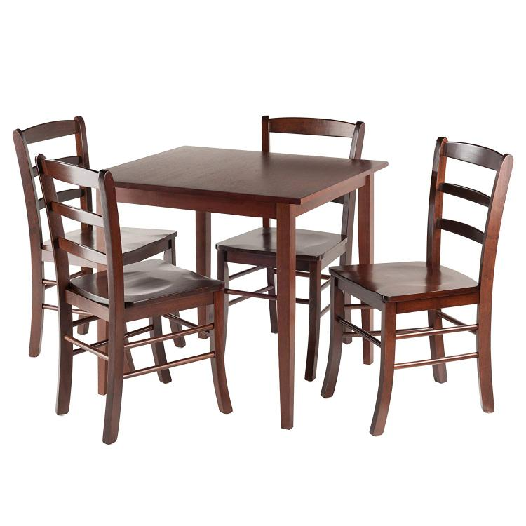 Winsome Wood Groveland 5pc Square Dining Table with 4 chairs