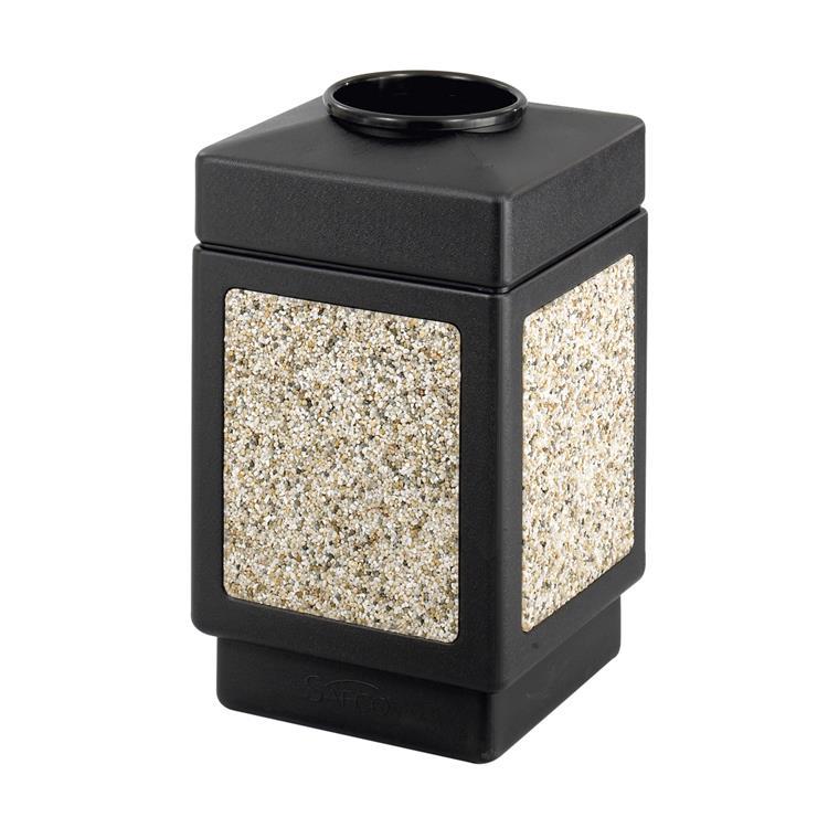 Canmeleon™ Indoor Outdoor Trash Can, Aggregate Panel, Open Top, 38 Gallon