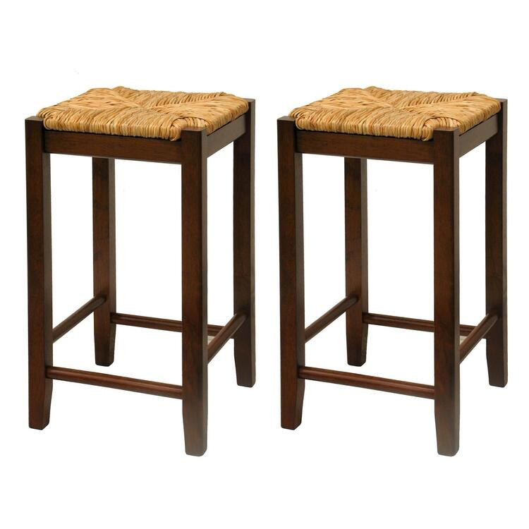 Winsome Wood Set of 2, Rush Seat 24
