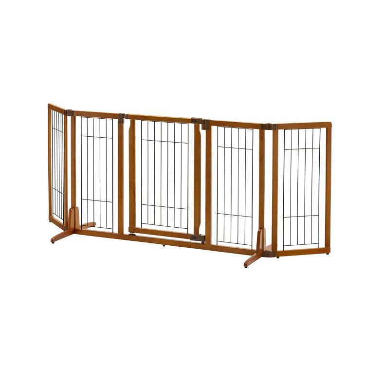 Richell Wide Premium Plus Freestanding Pet Gate With Door