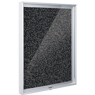 Enclosed Bulletin Board - 2x3 - Black RubberTak