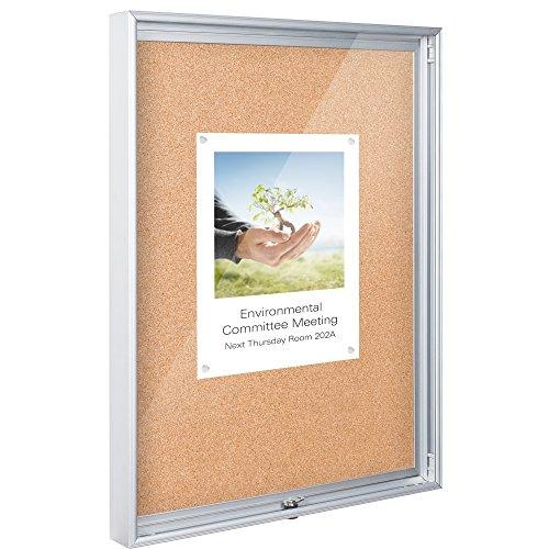 Enclosed Bulletin Board - 3x4 - Natural Cork