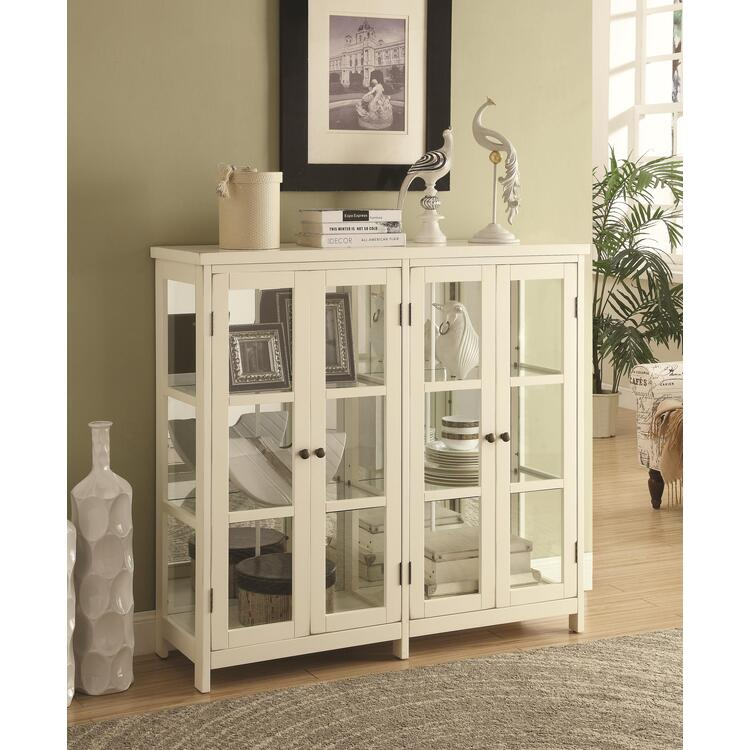 Coaster Transitional White Accent Cabinet