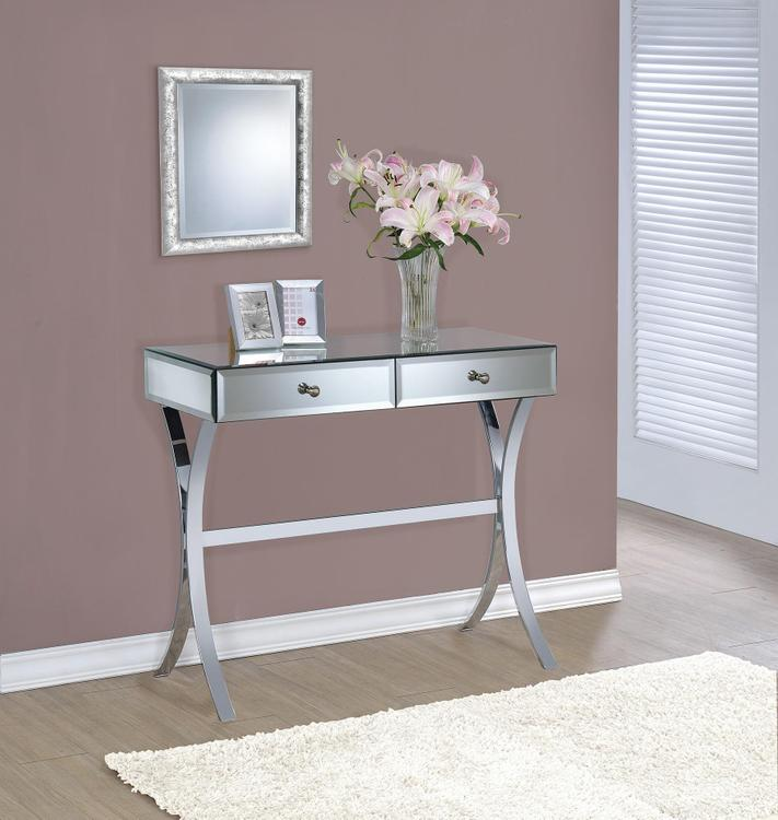 Coaster Contemporary Mirrored Console Table