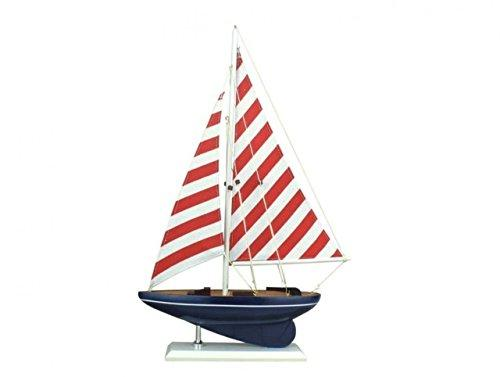 Wooden Nautical Delight Model Sailboat 17''