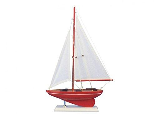 Wooden Compass Rose Model Sailboat 17''