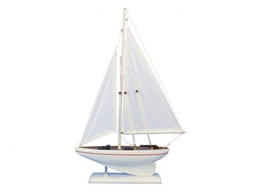 Wooden Intrepid Model Sailboat 17''