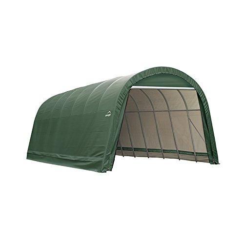 ShelterLogic 14x20x12 Round Style Shelter, Green Cover