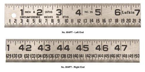 954 ft. 1-1/4 in. x 4 ft. Tinner Foot Steel Circumference Rule
