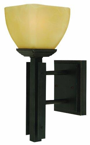 Half Dome 1 Light Wall Sconce in Venetian Bronze