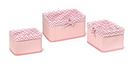 Claremont Bamboo Three Basket Set - Pink