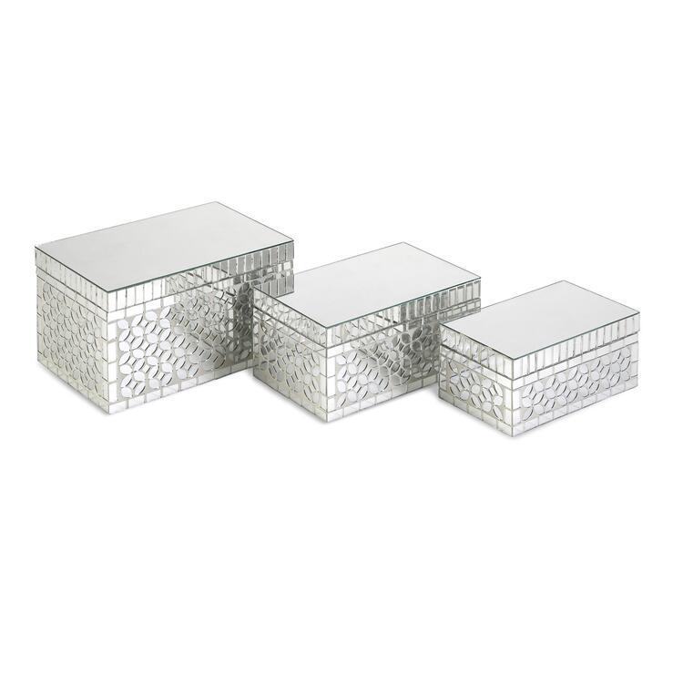 Mandiline Mirror Mosaic Boxes - Set of 3