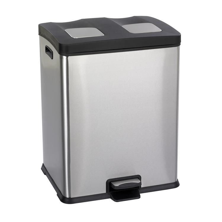 Right-Size Recycling Trash Can, 7 1/2 Gallon, Stainless Steel