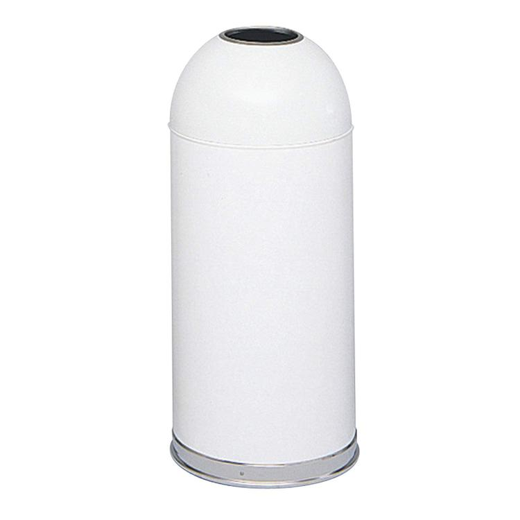 Dome Top Trash Can, Open Top, 15 Gallon