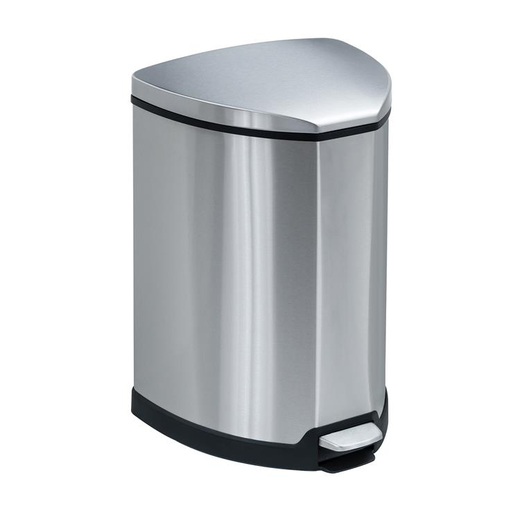 Stainless Step-On Trash Can, 4 Gallon