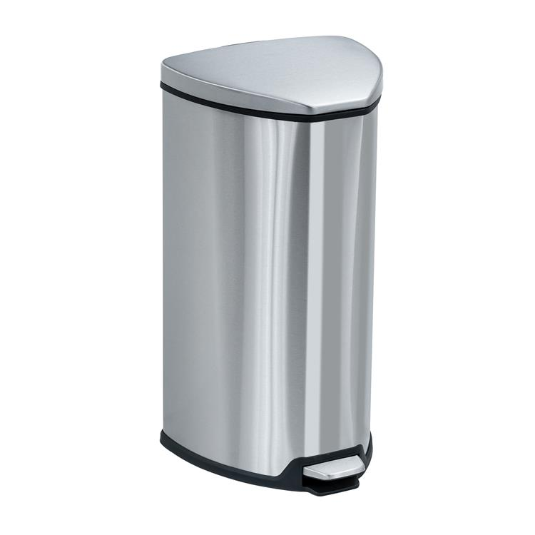 Stainless Step-On Trash Can, 7 Gallon