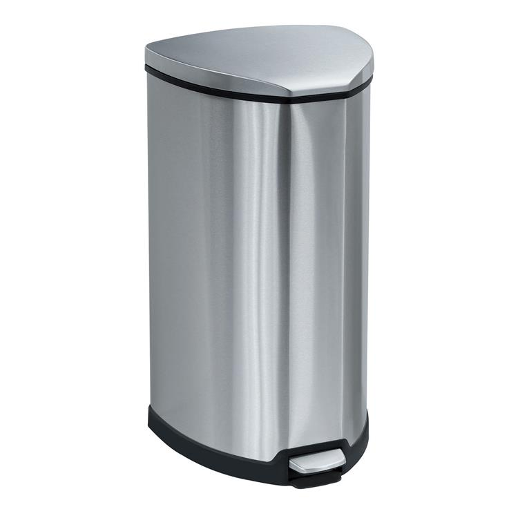 Stainless Step-On Trash Can, 10 Gallon