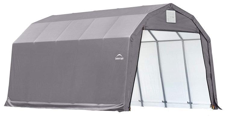 ShelterLogic 12x20x9 Barn Shelter, Grey Cover
