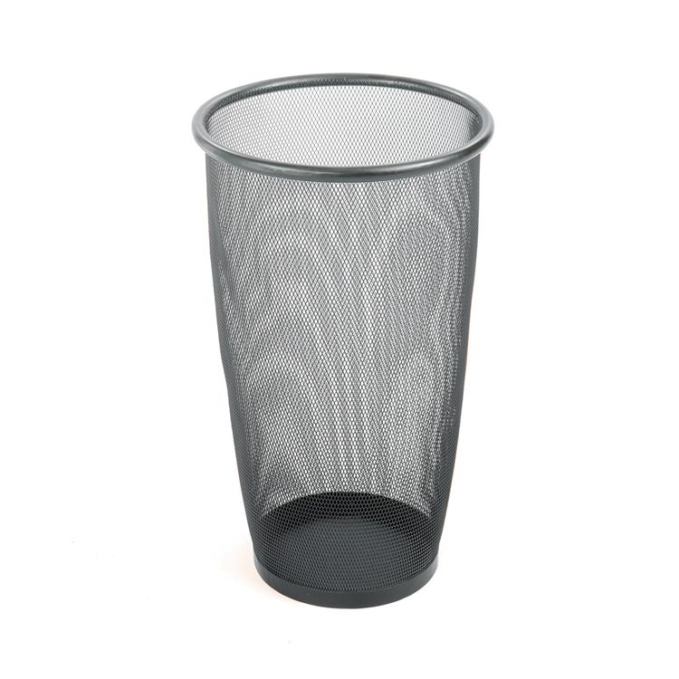 Onyx™ Mesh Trash Can, Large Round, Black, (Qty. 3)