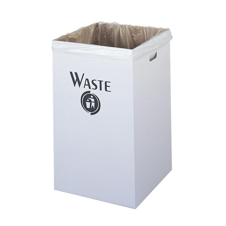 Corrugated Trash Can, 40 Gallon, (Qty. 12)