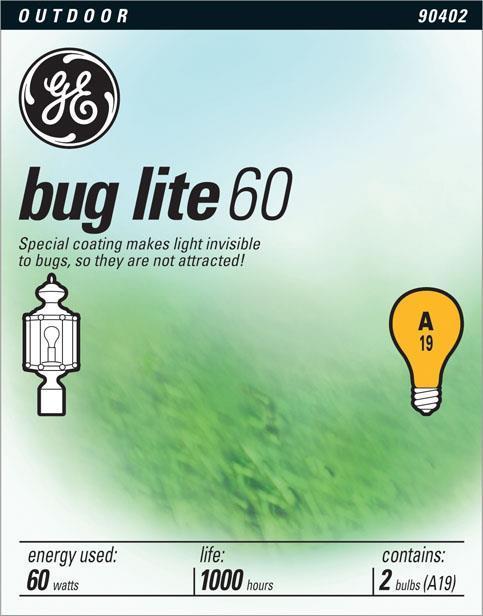 GE Lighting 97495 60Ay 2 Pk Buglite