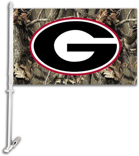 Car Flag W/Wall Brackett - Realtree Camo Background