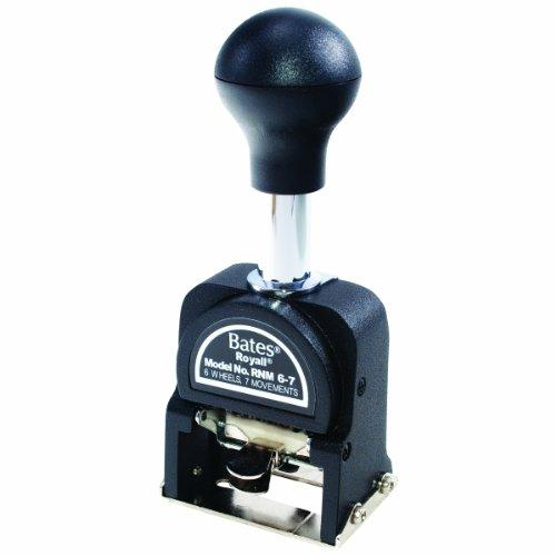 Royall Economy Numbering Machine, Model RNM6-7, 6 Wheels, Type Size E