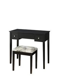 Black Butterfly Vanity and Stool