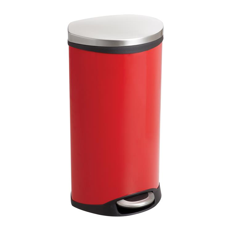 Ellipse Step-On Trash Can, 7 1/2 Gallon