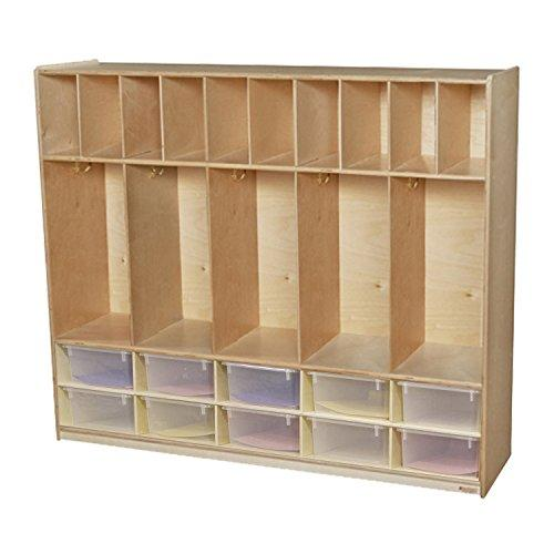 Five Section Locker with Translucent Cubby Trays