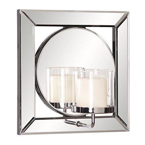 Howard Elliott Lula Square Mirror w/ Candle Holder