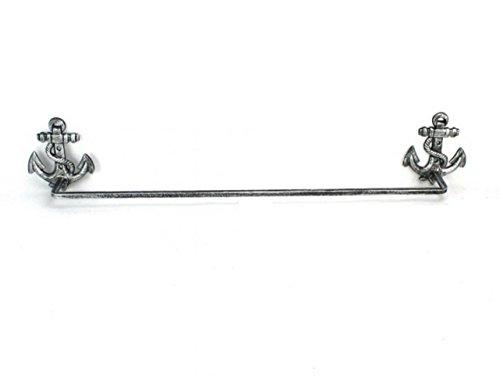 Antique Silver Cast Iron Anchor Bath Towel Holder 28''