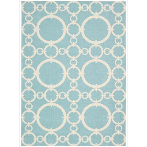Waverly Sun & Shade Connected Aquamarine Indoor/Outdoor Rug By Nourison