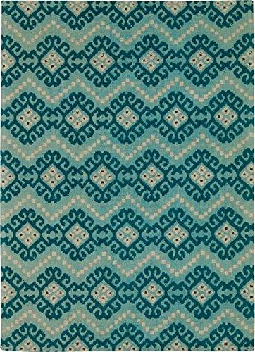 Waverly Color Motion Kurta Ember Prussian Area Rug By Nourison
