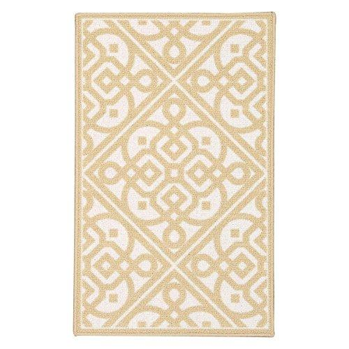 Waverly Fancy Free And Easy Lace It Up Gold Area Rug By Nourison